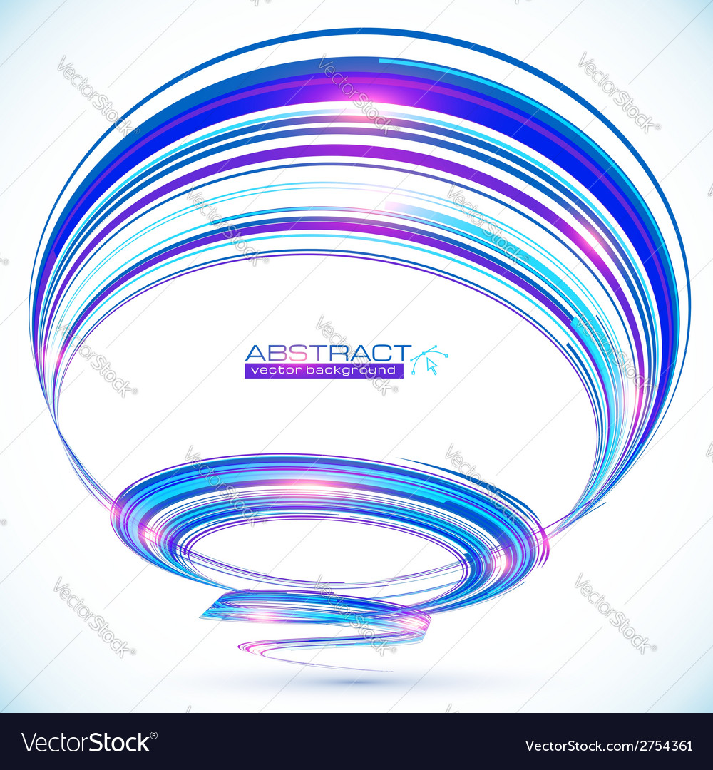 Blue abstract futuristic spiral background vector | Price: 1 Credit (USD $1)