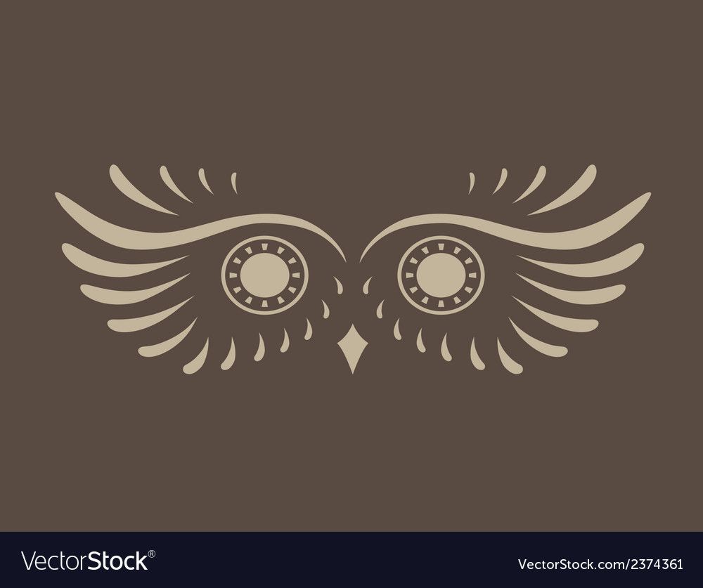 Brown abstract silhouette of owl vector | Price: 1 Credit (USD $1)