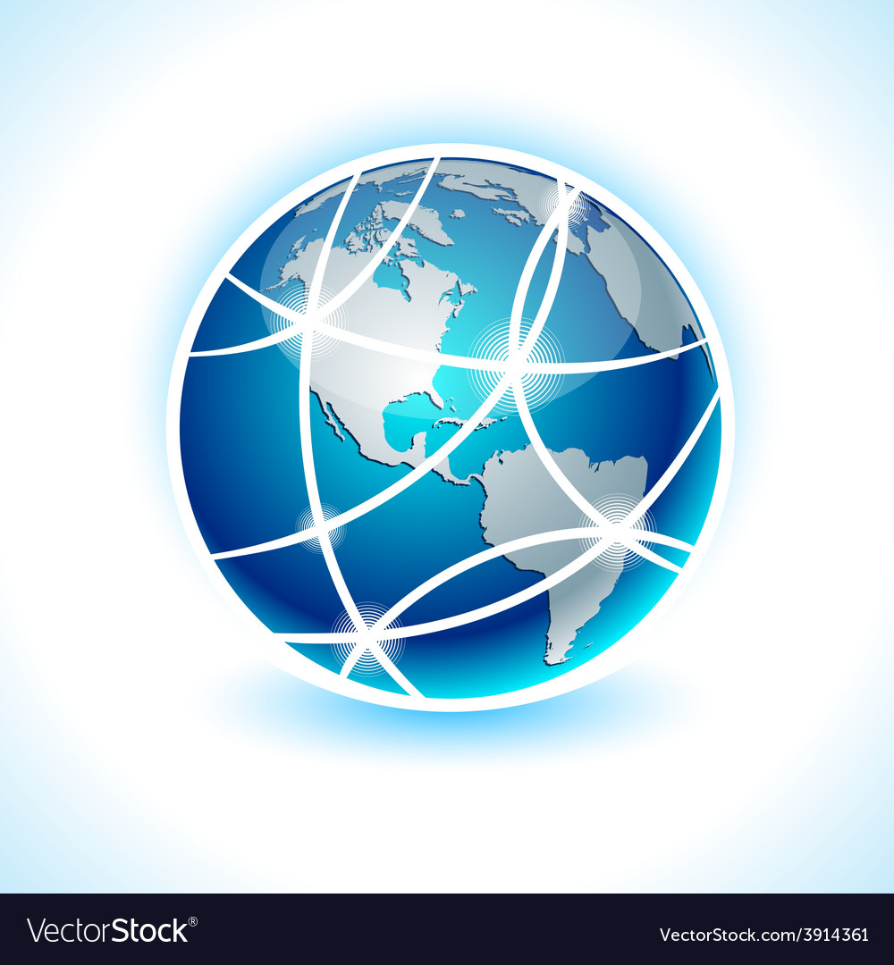 Communication earth - america vector | Price: 1 Credit (USD $1)