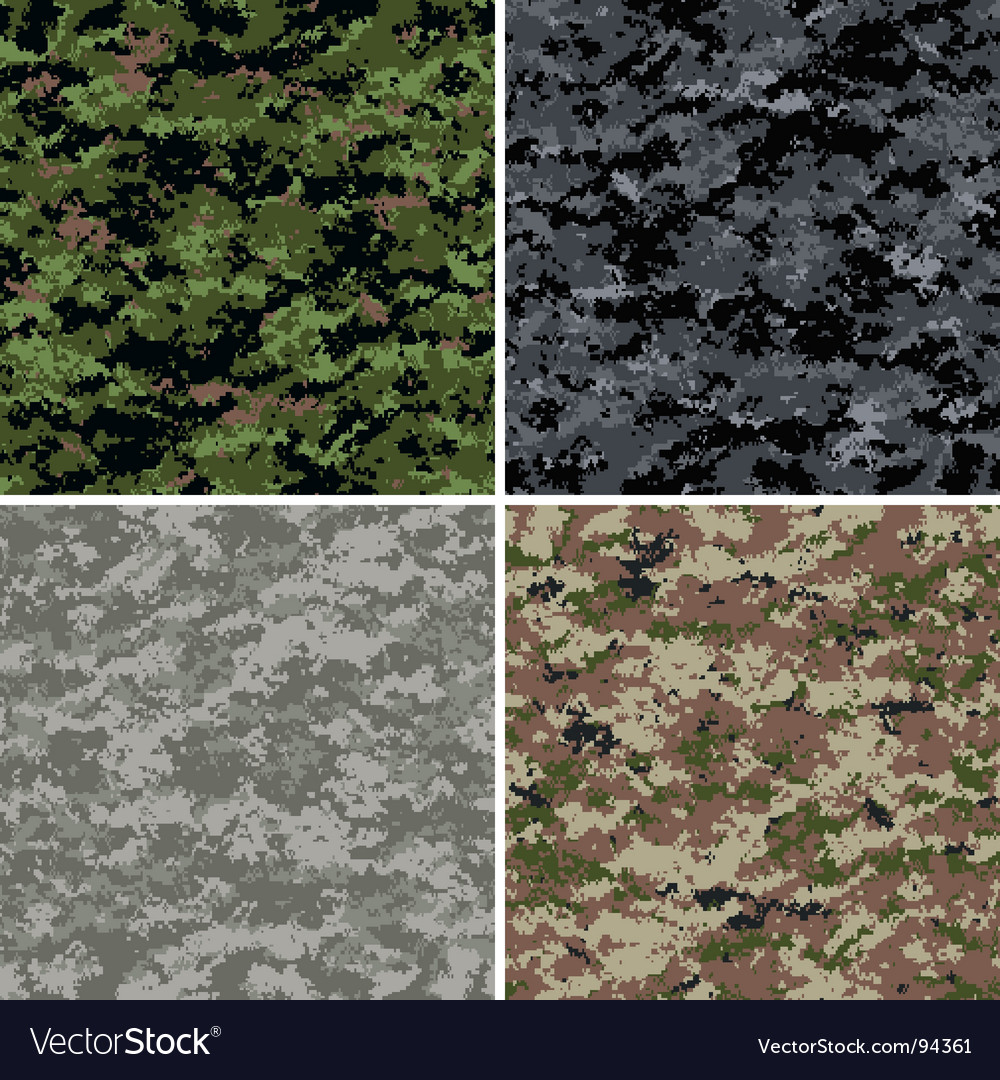 Digital camouflage patterns vector | Price: 1 Credit (USD $1)