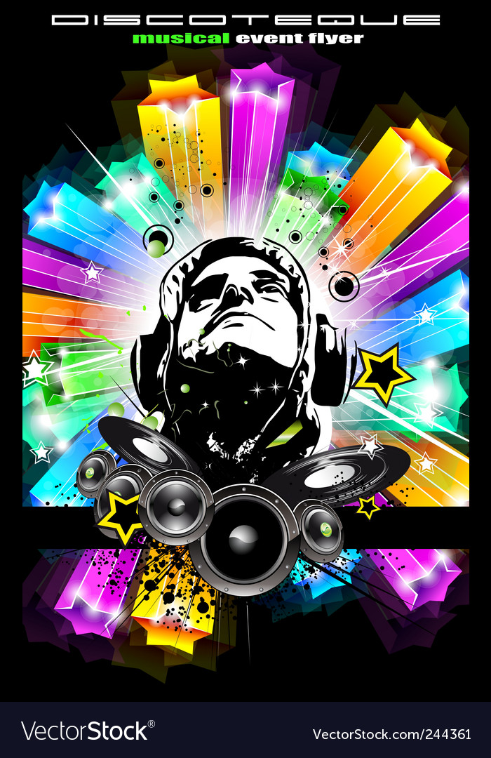 Disco flyer for music event vector | Price: 3 Credit (USD $3)