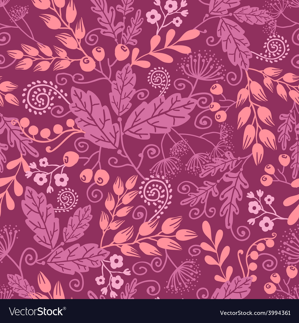 Fall garden seamless pattern background vector | Price: 1 Credit (USD $1)