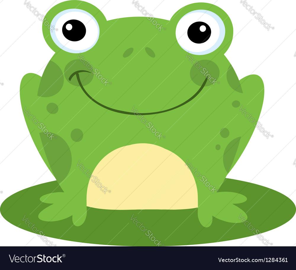 Happy head frog cartoon character vector | Price: 1 Credit (USD $1)