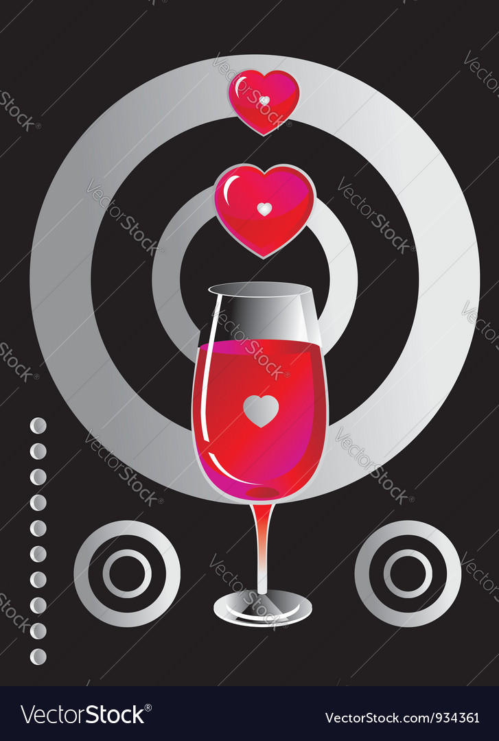 Heart glass background vector | Price: 1 Credit (USD $1)