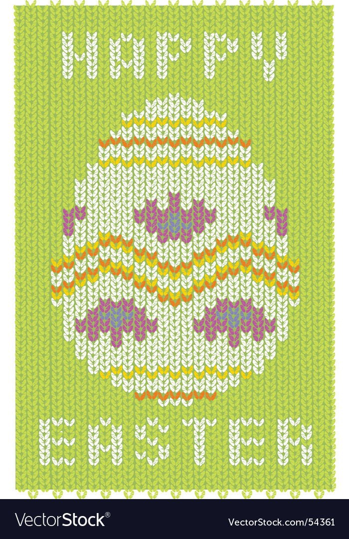 Knitted easter card vector | Price: 1 Credit (USD $1)