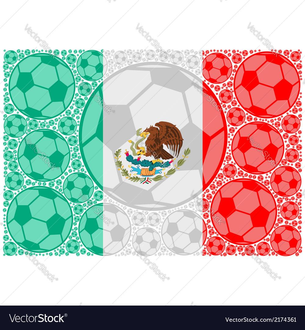 Mexico soccer balls vector | Price: 1 Credit (USD $1)