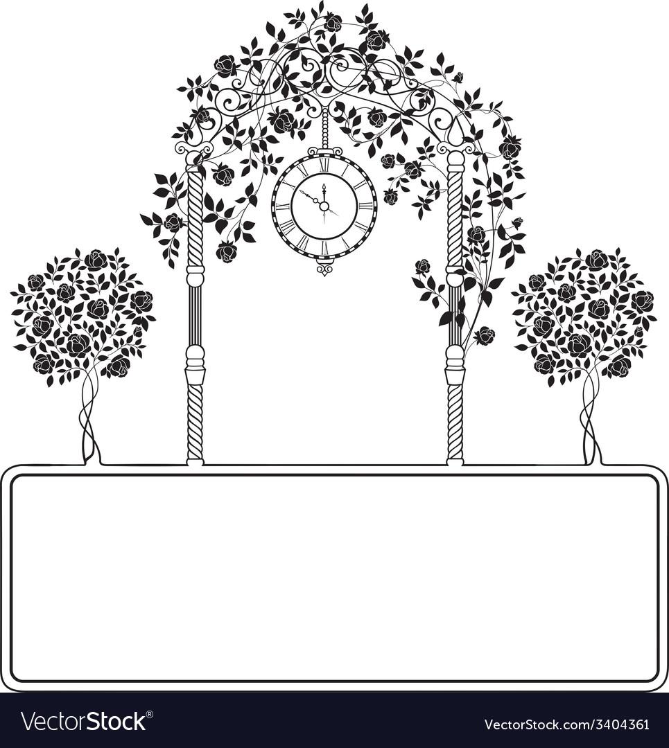 Roses garden vector | Price: 1 Credit (USD $1)
