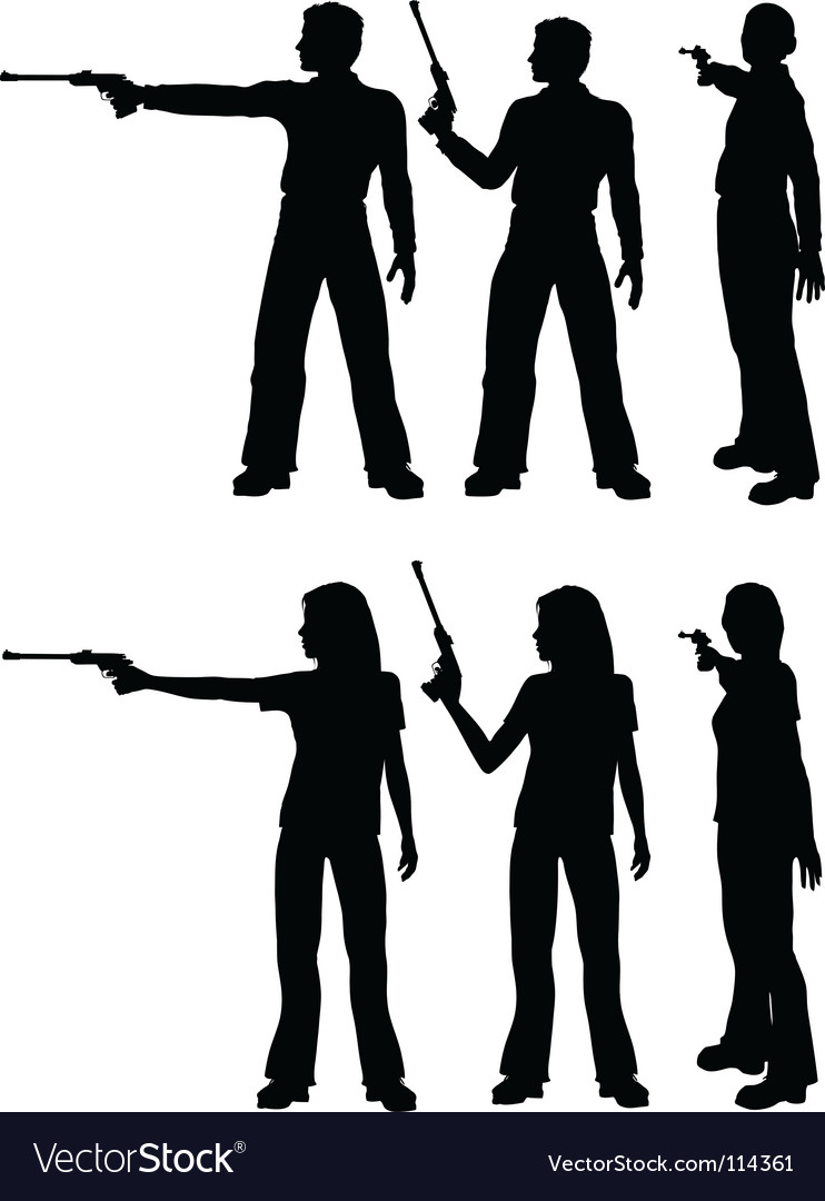 Silhouette shooters vector | Price: 1 Credit (USD $1)
