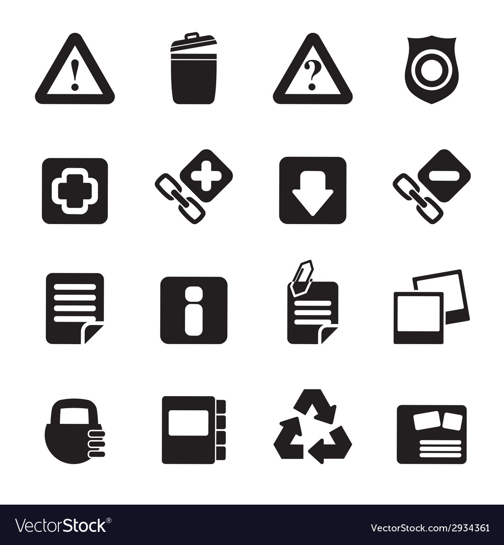 Silhouette web site and computer icons vector | Price: 1 Credit (USD $1)