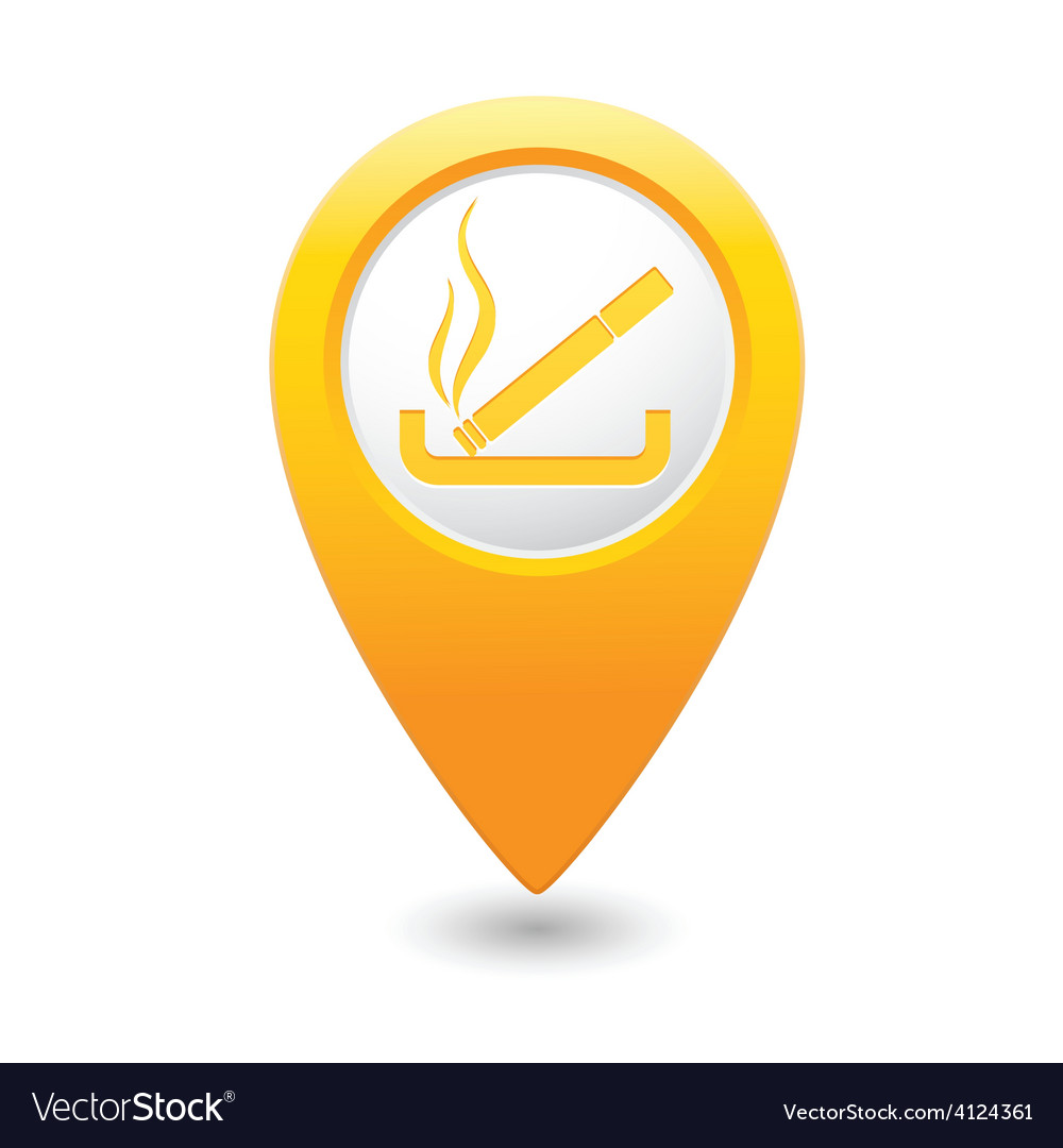 Smoking map pointer yellow vector | Price: 1 Credit (USD $1)