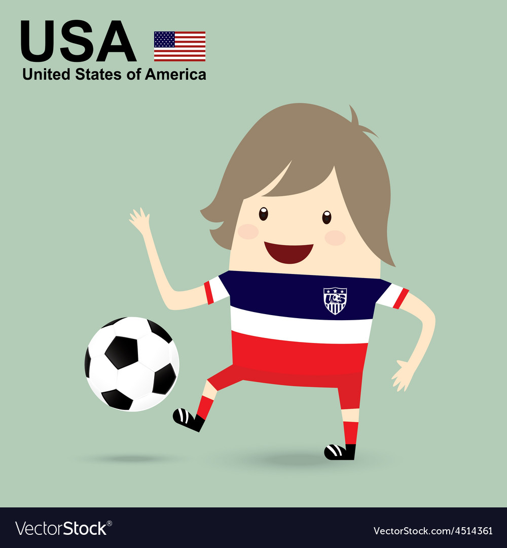 United states of america national football team vector | Price: 1 Credit (USD $1)