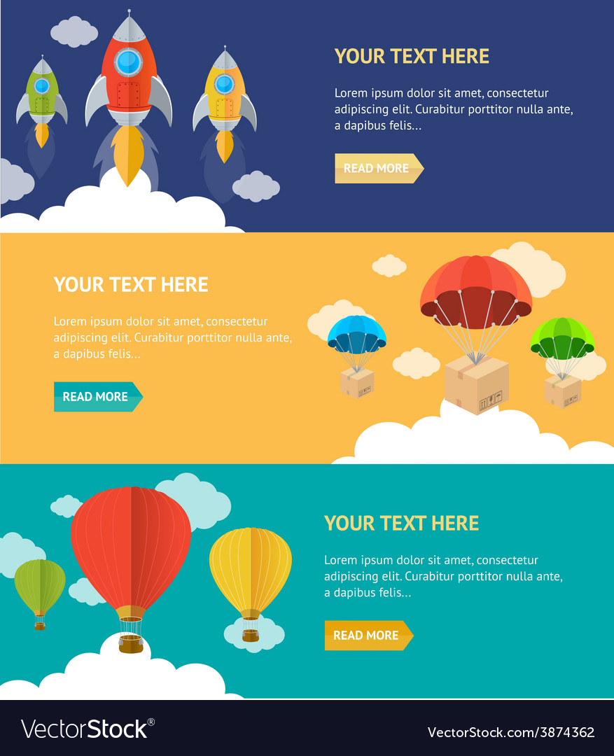 Airship option banner vector | Price: 1 Credit (USD $1)