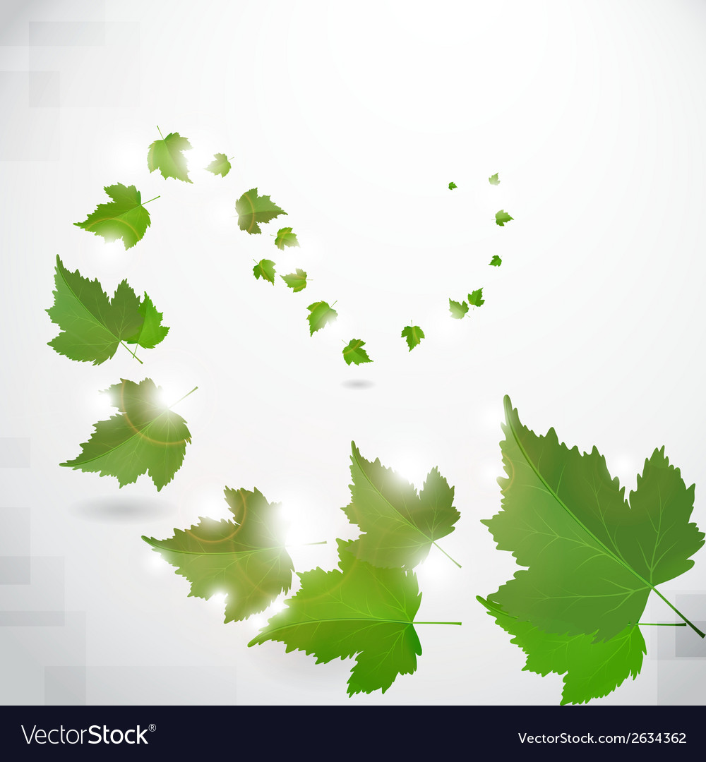Background with green leaves vector | Price: 1 Credit (USD $1)