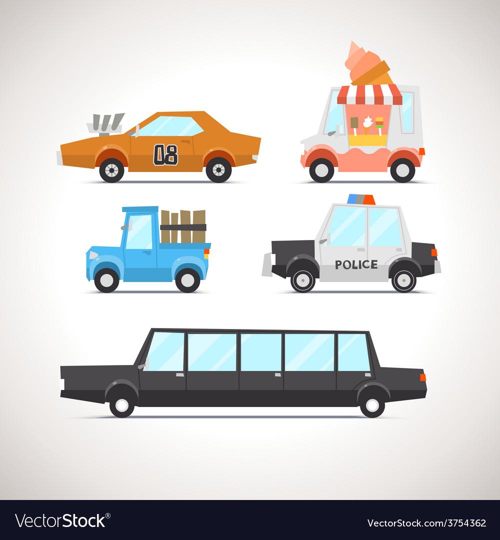 Car flat icon set 2 vector | Price: 3 Credit (USD $3)