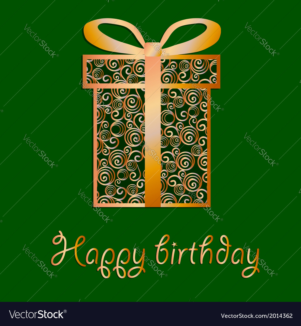 Elegant filigree birthday card in format vector | Price: 1 Credit (USD $1)
