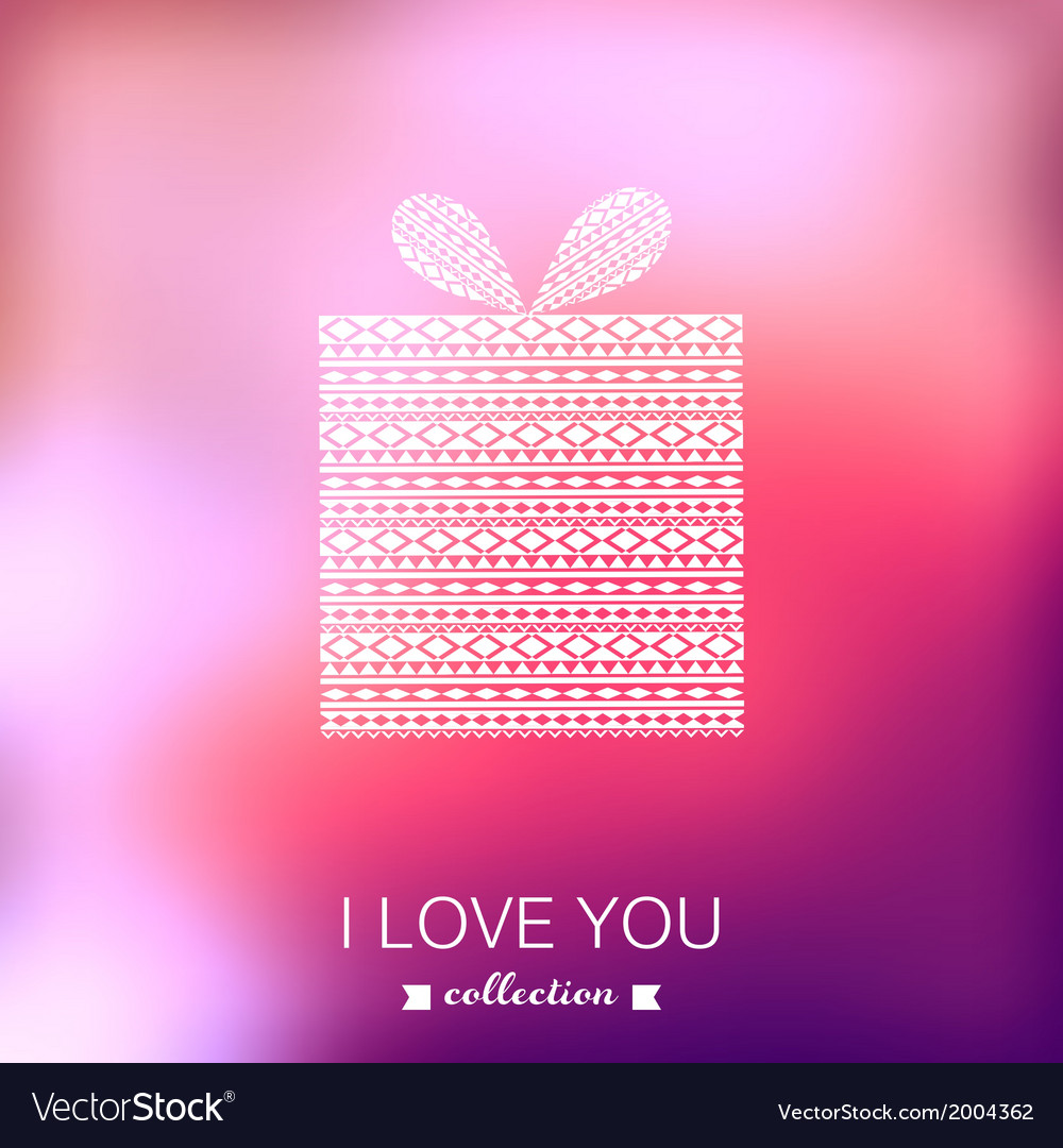 Gift box valentines day background blurred vector | Price: 1 Credit (USD $1)