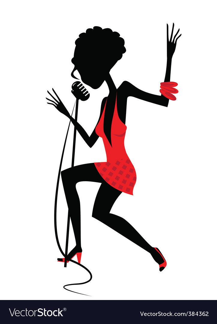 Singing girl vector | Price: 1 Credit (USD $1)