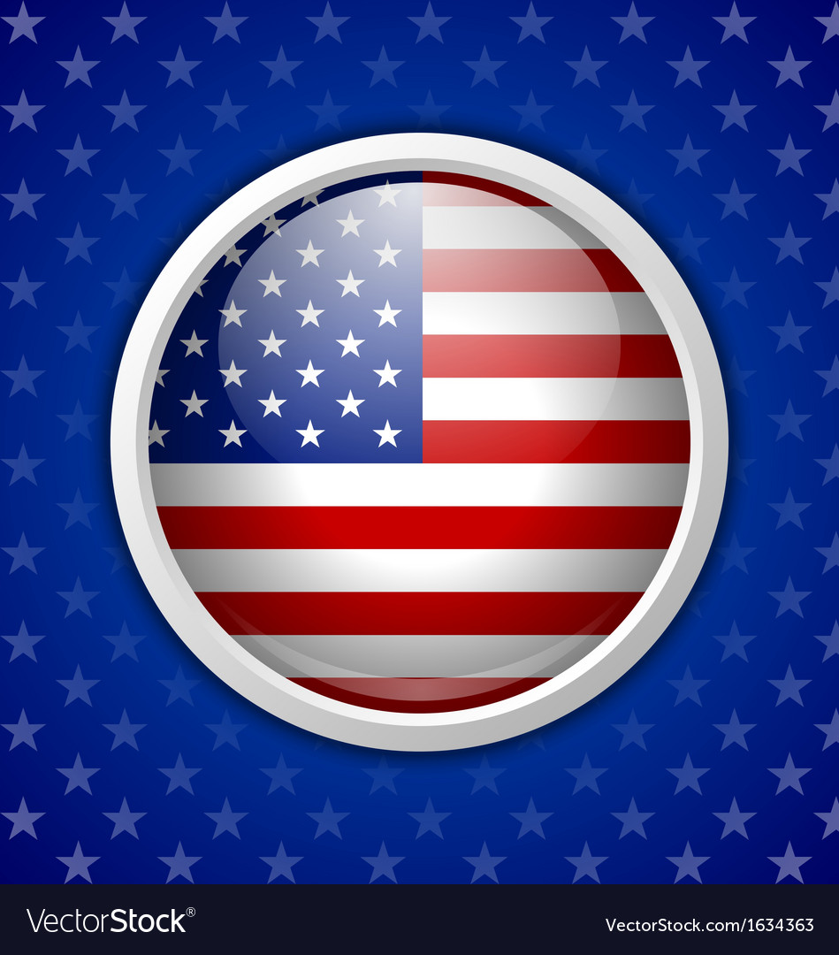 American circular badge vector | Price: 1 Credit (USD $1)