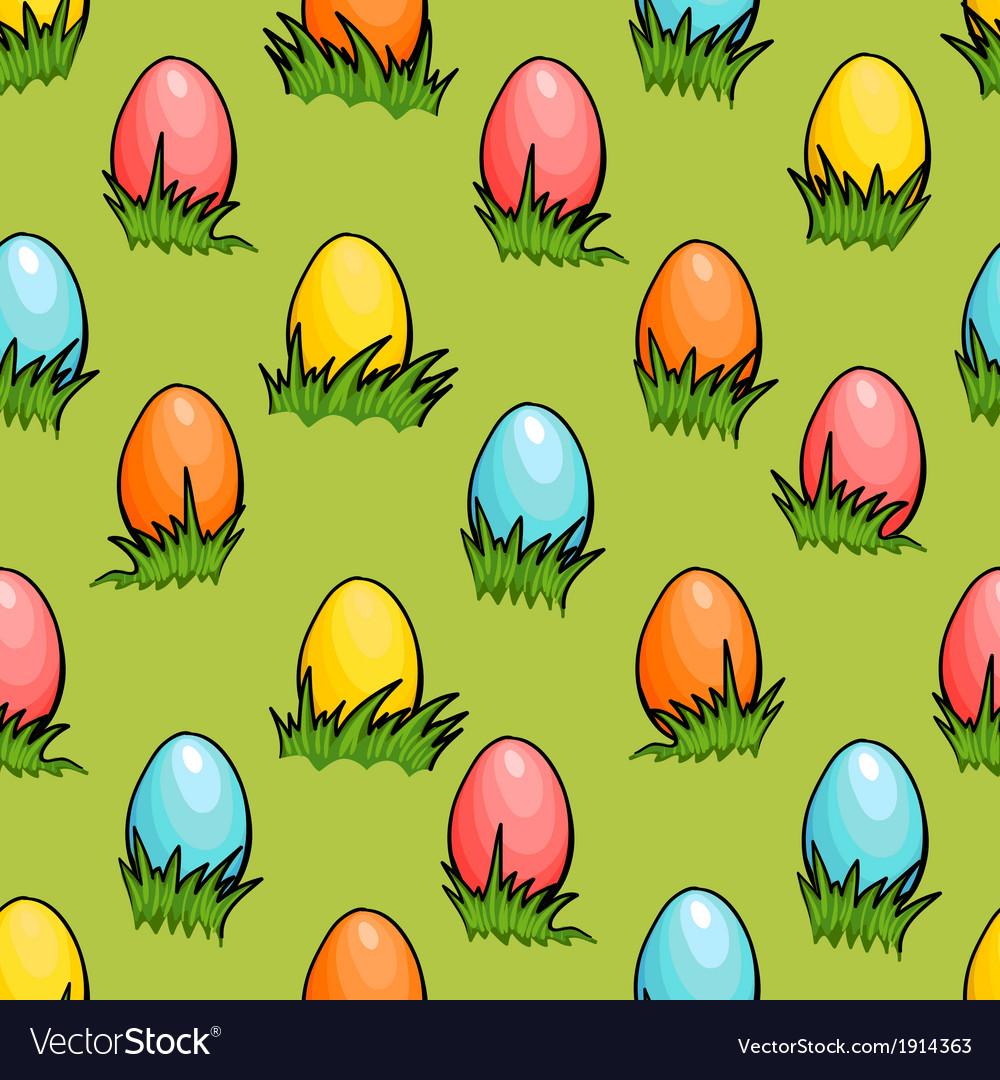 Cartoon seamless easter egg background vector | Price: 1 Credit (USD $1)