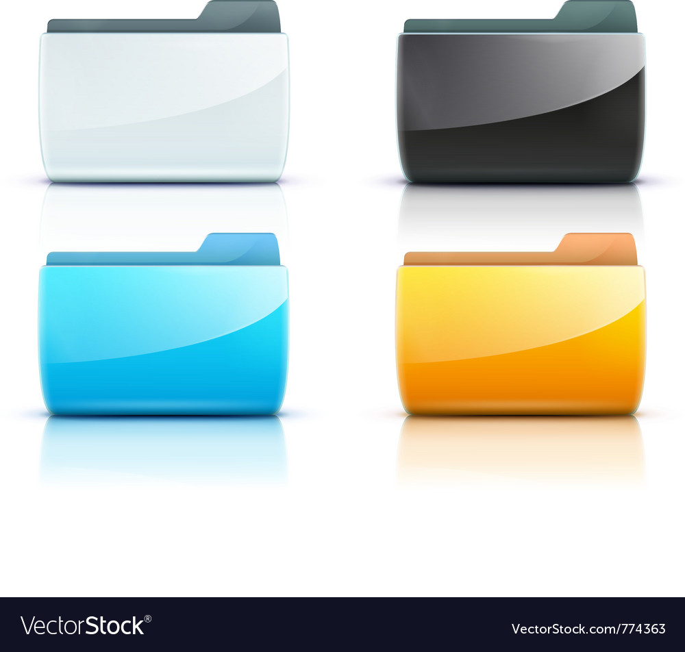 Computer folder vector | Price: 3 Credit (USD $3)