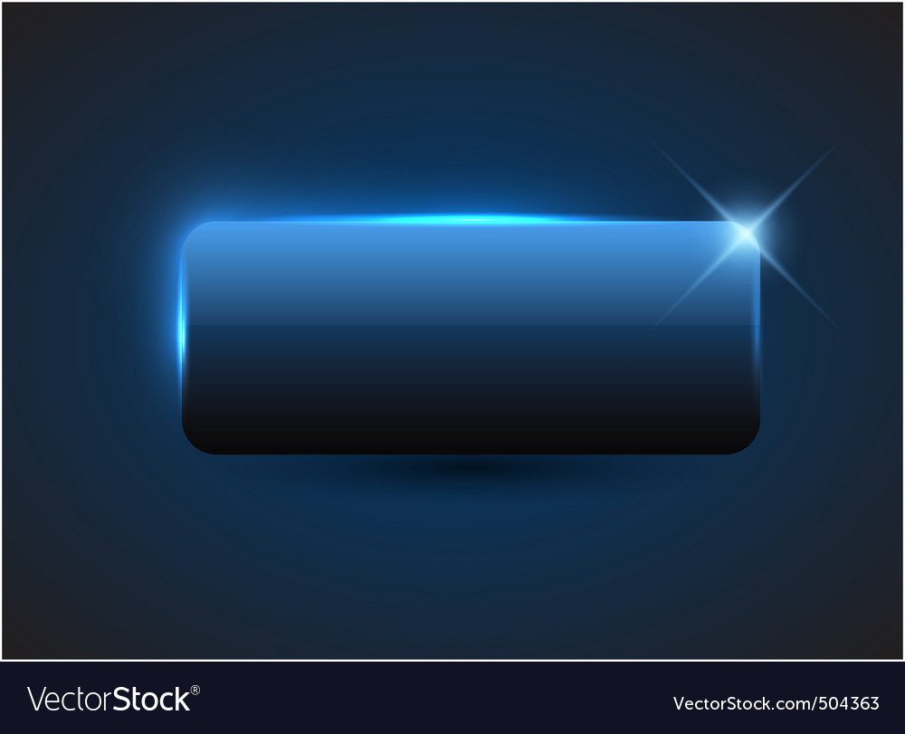 Empty blue button vector | Price: 1 Credit (USD $1)