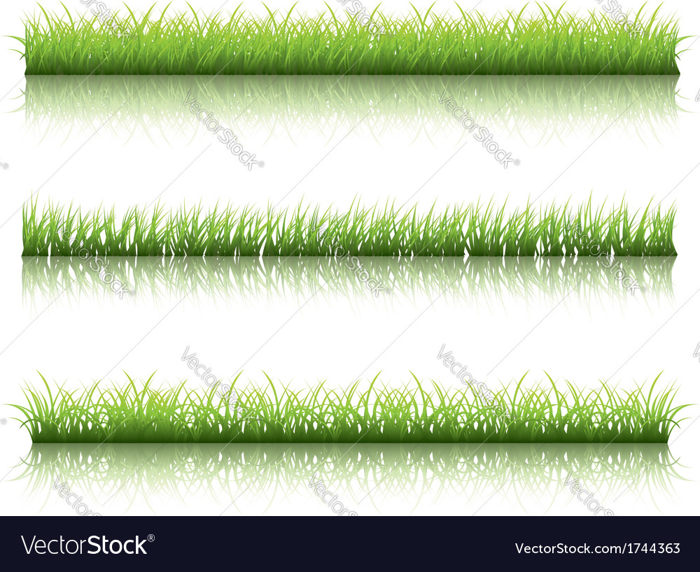 Green grass line vector | Price: 1 Credit (USD $1)