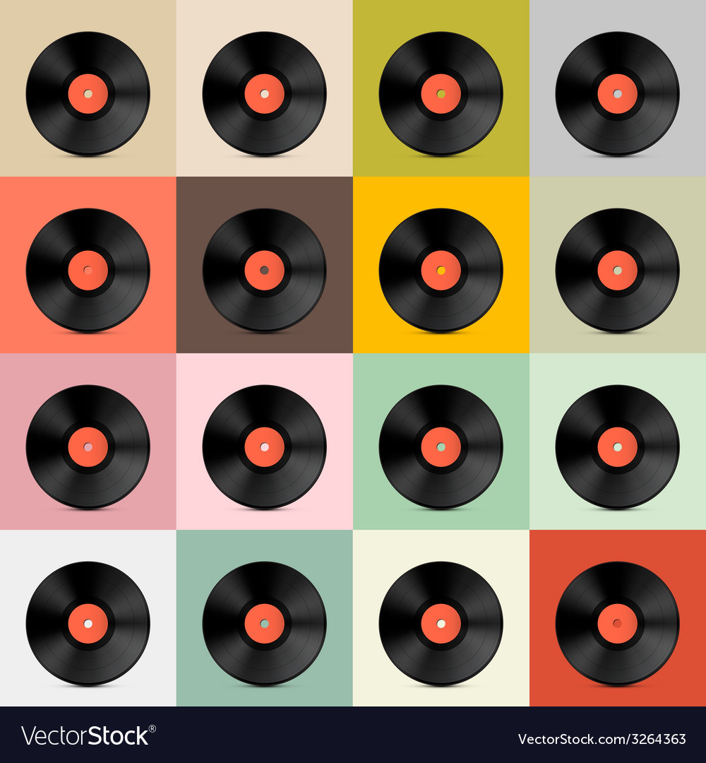 Retro - vintage vinyl record disc template vector | Price: 1 Credit (USD $1)