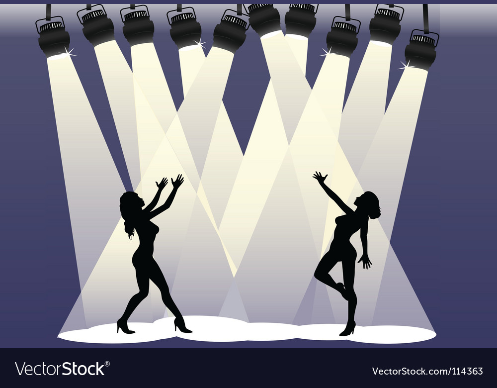 Spotlight dancers vector | Price: 1 Credit (USD $1)