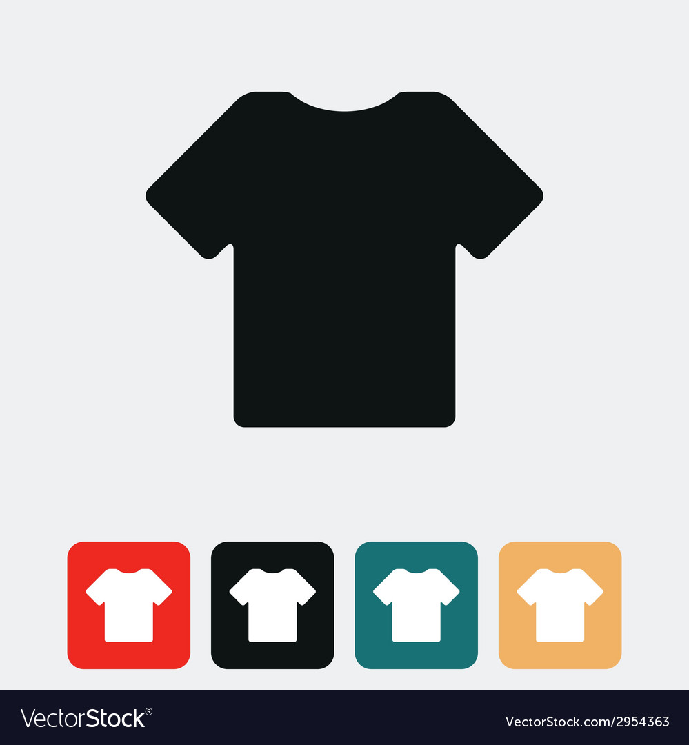 T shirt icon vector | Price: 1 Credit (USD $1)