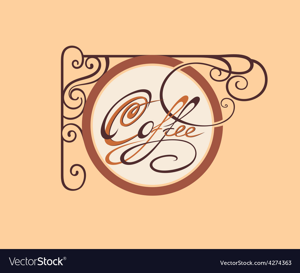 Vintage style coffee card vector