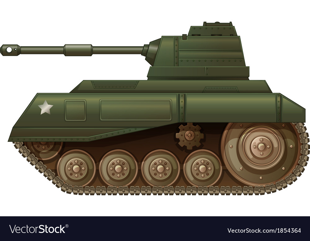 A green military tank vector | Price: 1 Credit (USD $1)