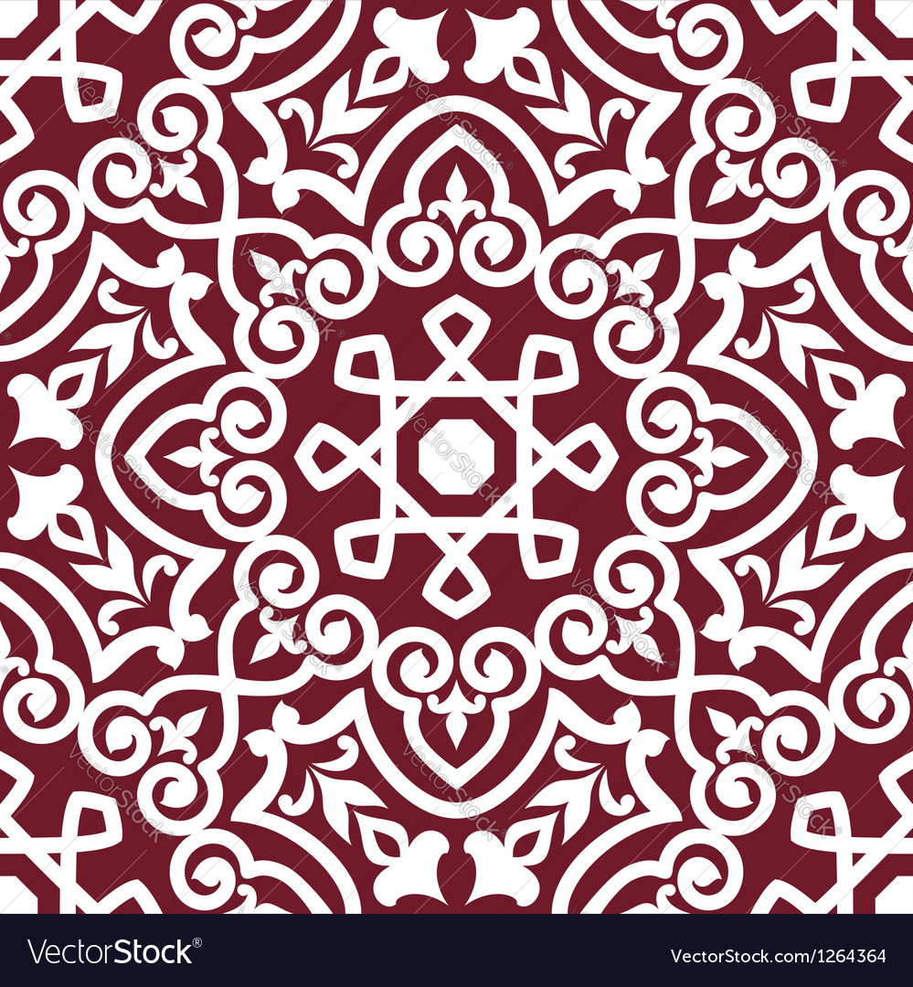 Abstract arabic or persian seamless ornament vector | Price: 1 Credit (USD $1)
