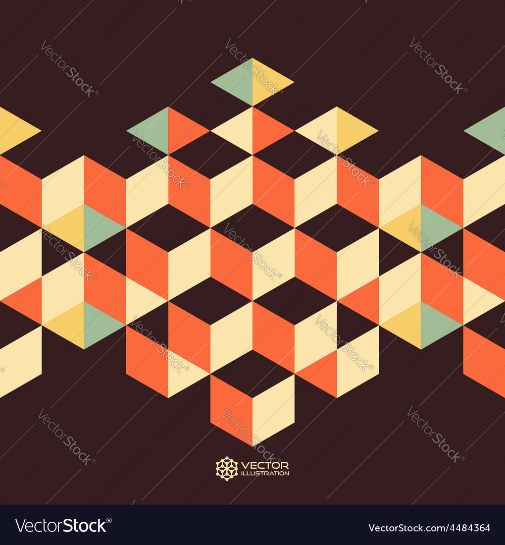 Abstract geometrical 3d background vector | Price: 1 Credit (USD $1)