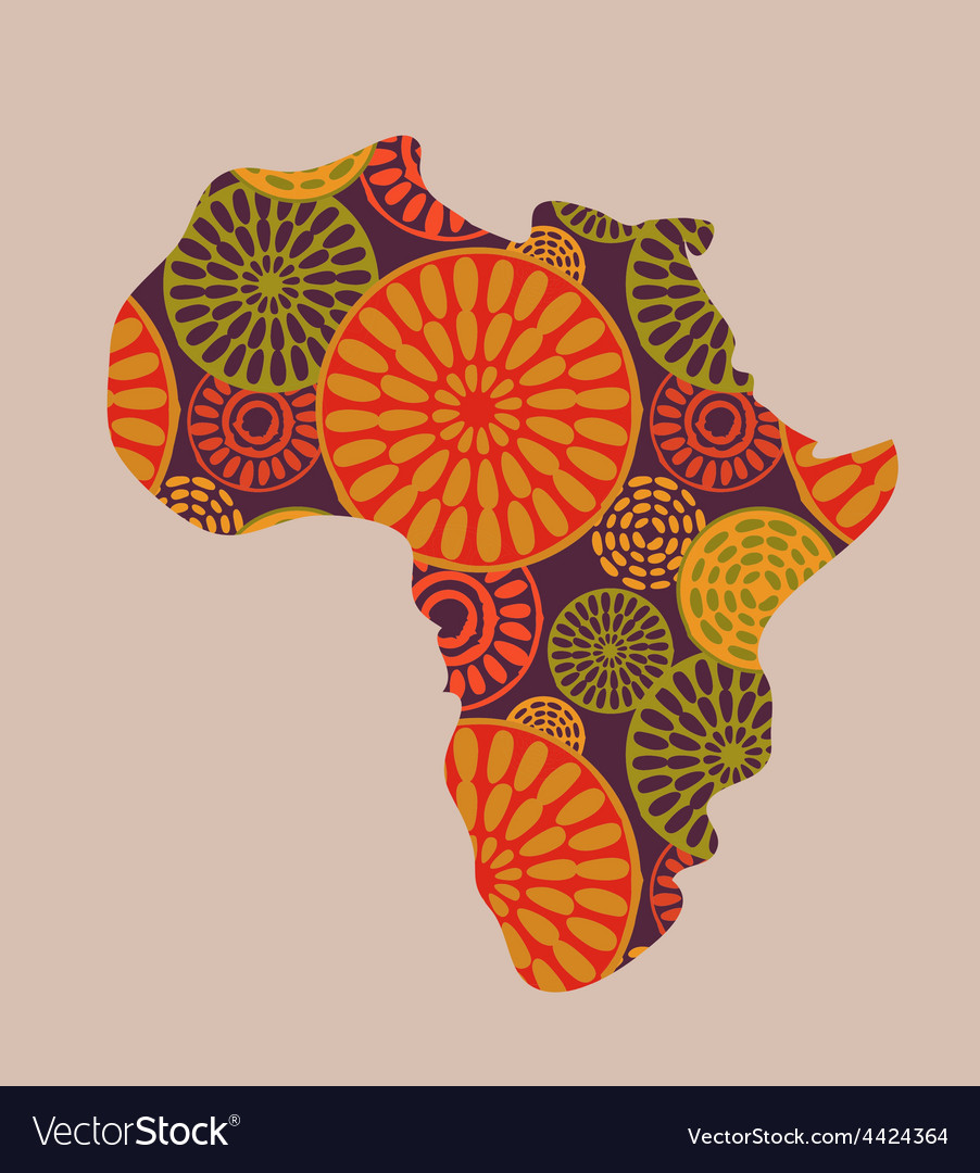 Africa - patterned map vector | Price: 1 Credit (USD $1)