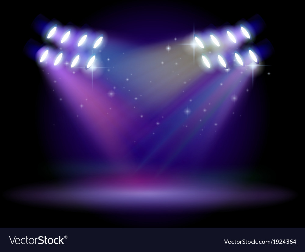An empty stage with lights vector | Price: 1 Credit (USD $1)
