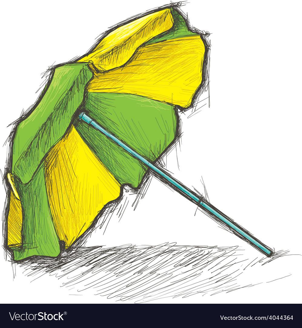 Beach umbrella vector | Price: 1 Credit (USD $1)