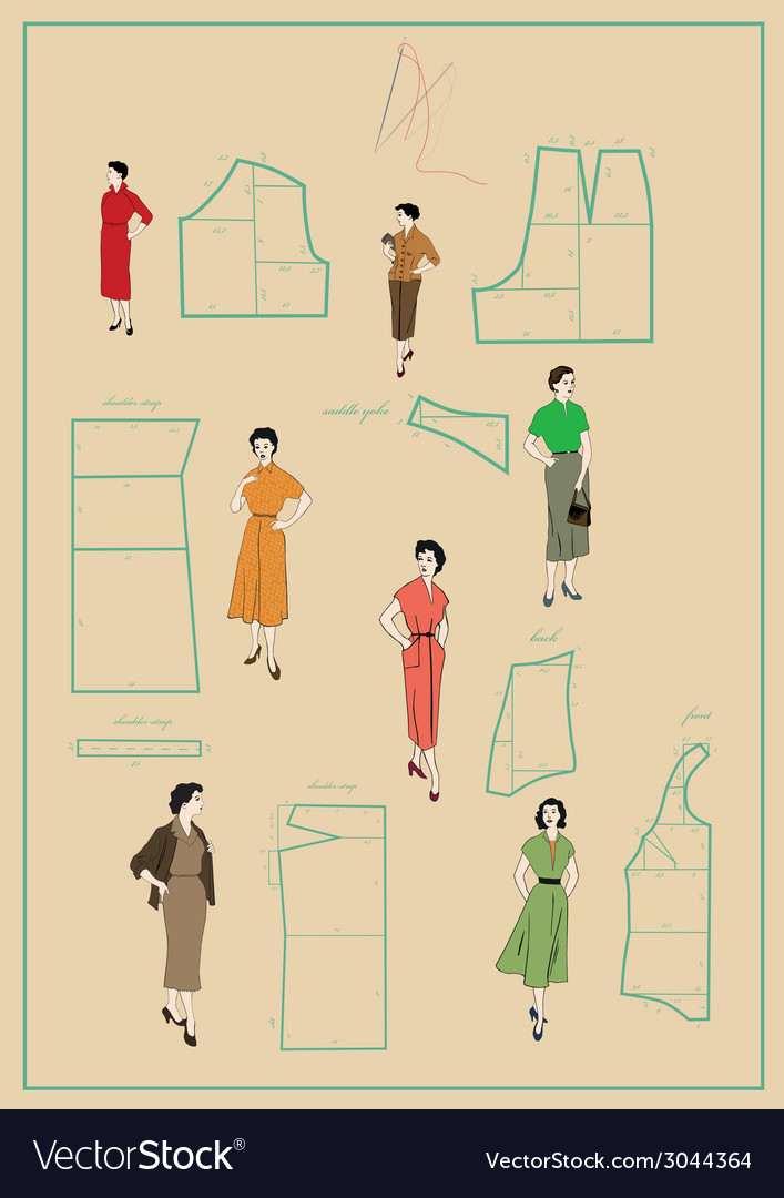 Dressmaking vector | Price: 1 Credit (USD $1)