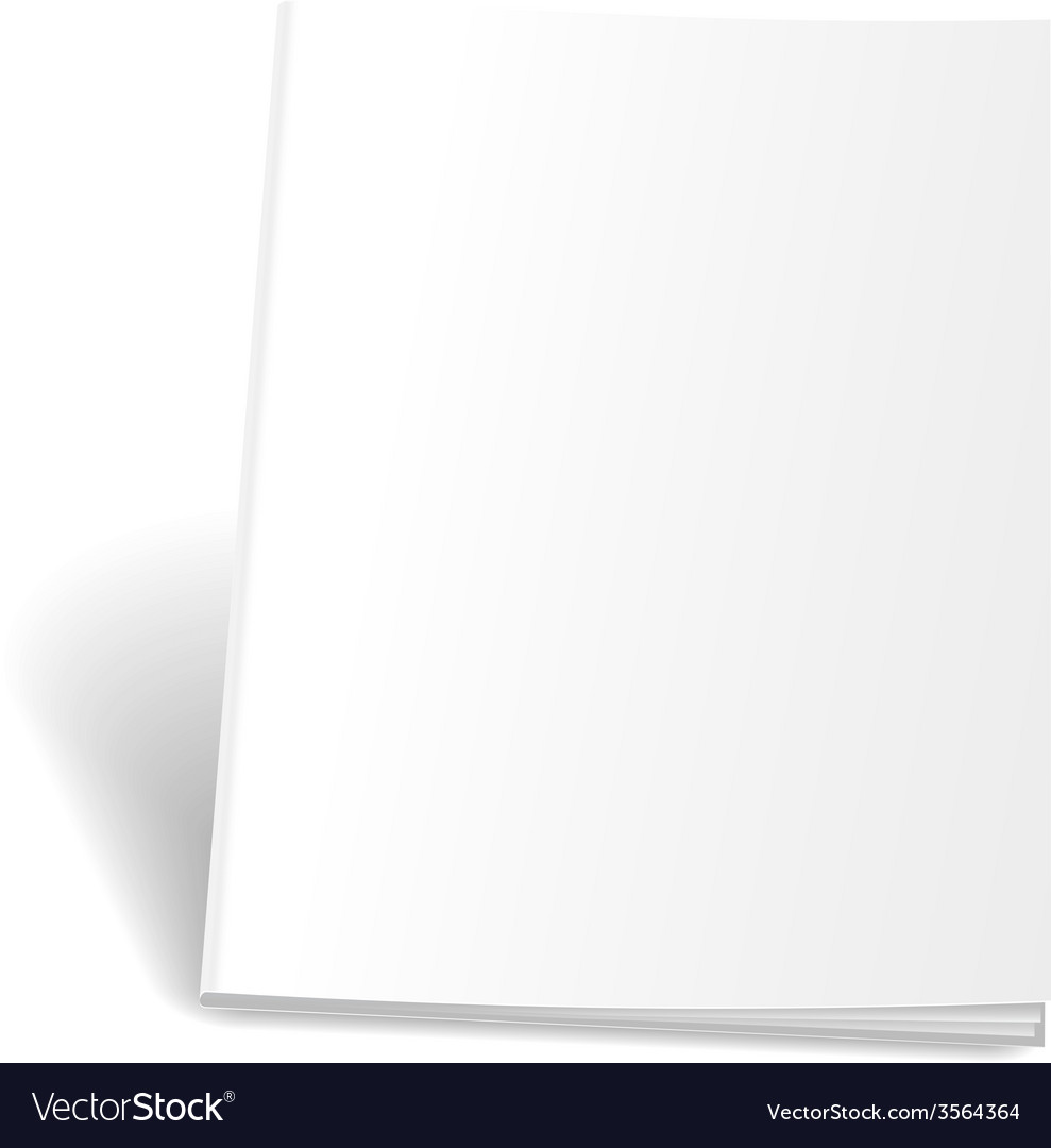 Empty magazine on white background perfect blank vector | Price: 1 Credit (USD $1)