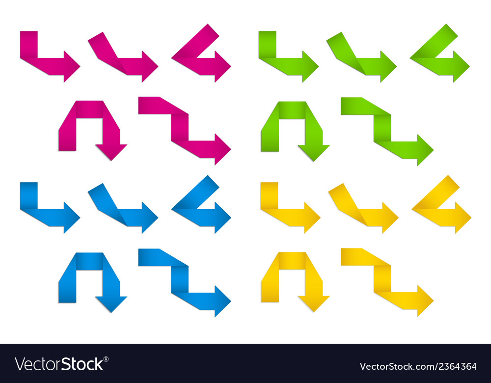 Folded paper arrows vector | Price: 1 Credit (USD $1)