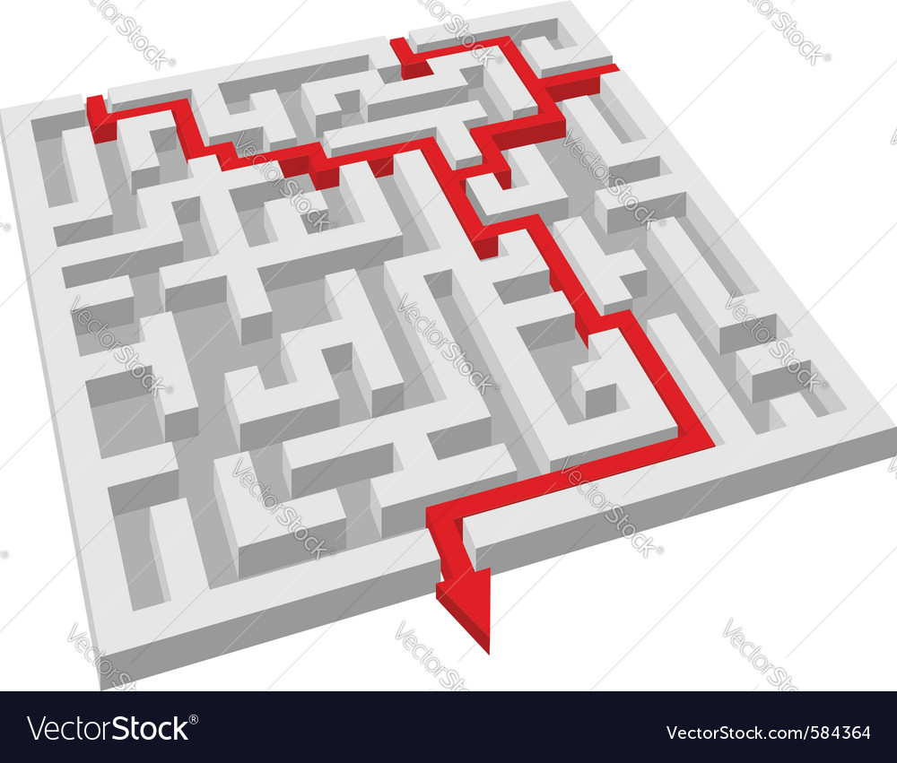 Labyrinth maze puzzle vector | Price: 1 Credit (USD $1)