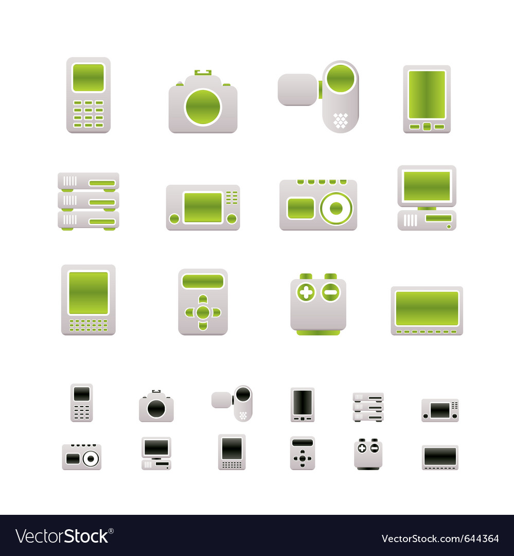 Media and electronics icons vector | Price: 1 Credit (USD $1)