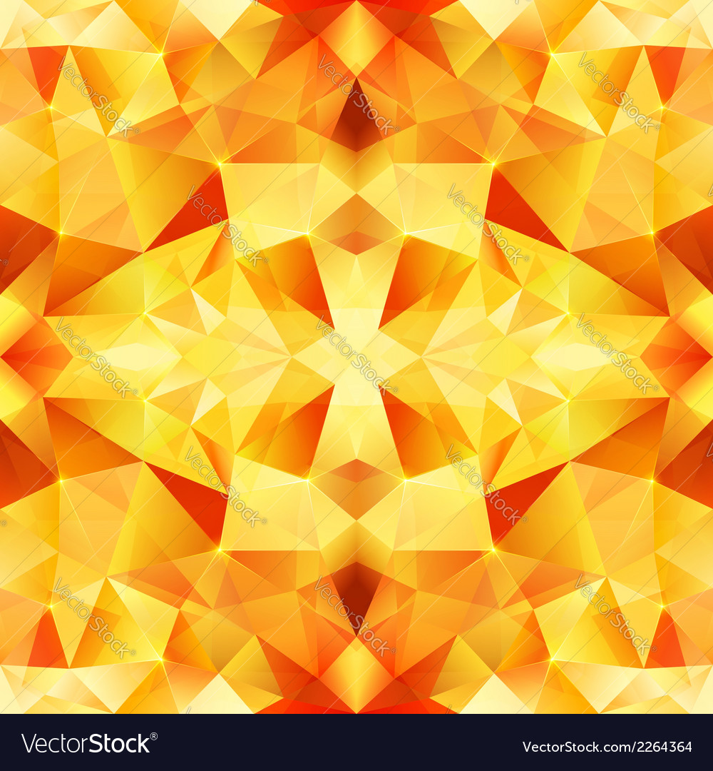 Orange crystal abstract seamless pattern vector | Price: 1 Credit (USD $1)