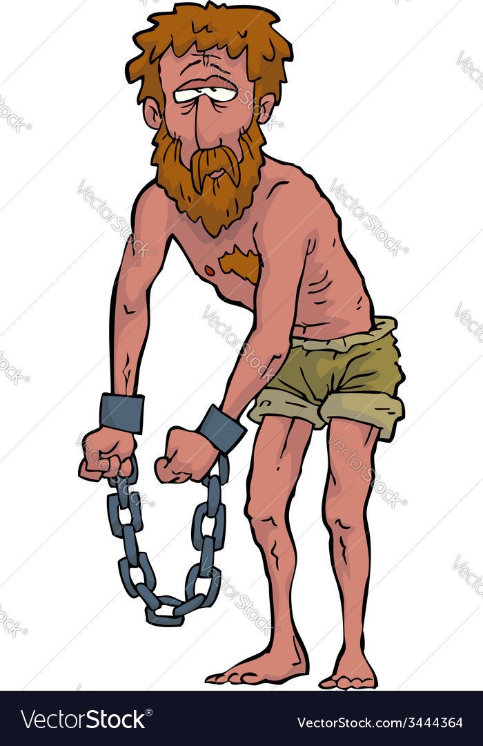 Slave in shackles vector | Price: 3 Credit (USD $3)