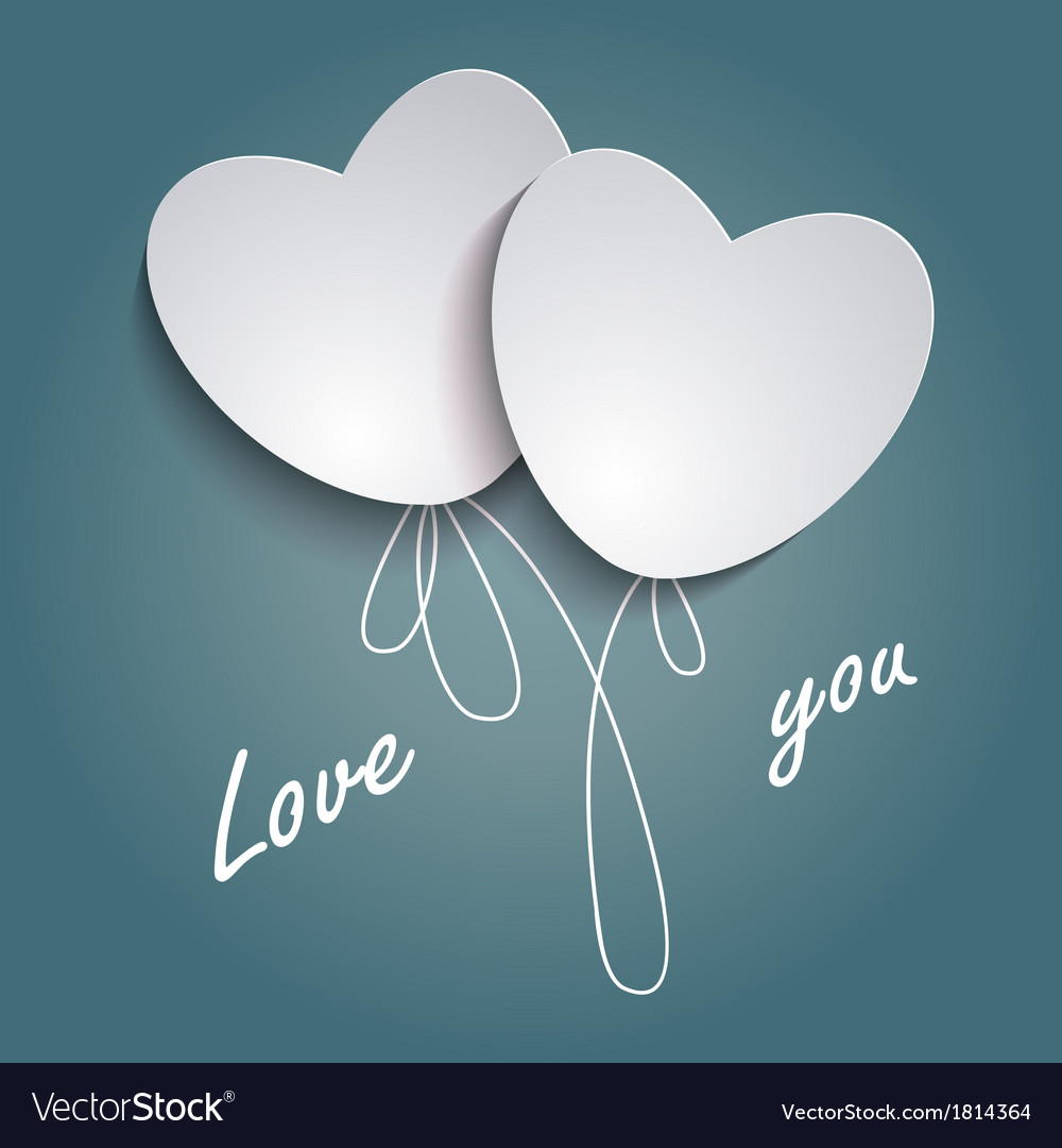Two loving hearts vector   Price: 1 Credit (USD $1)