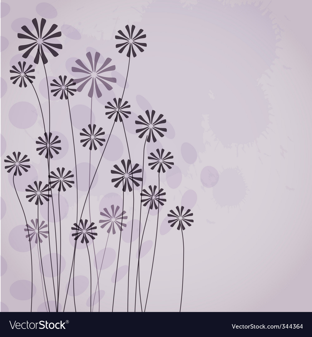 Vintage background with flower vector | Price: 1 Credit (USD $1)