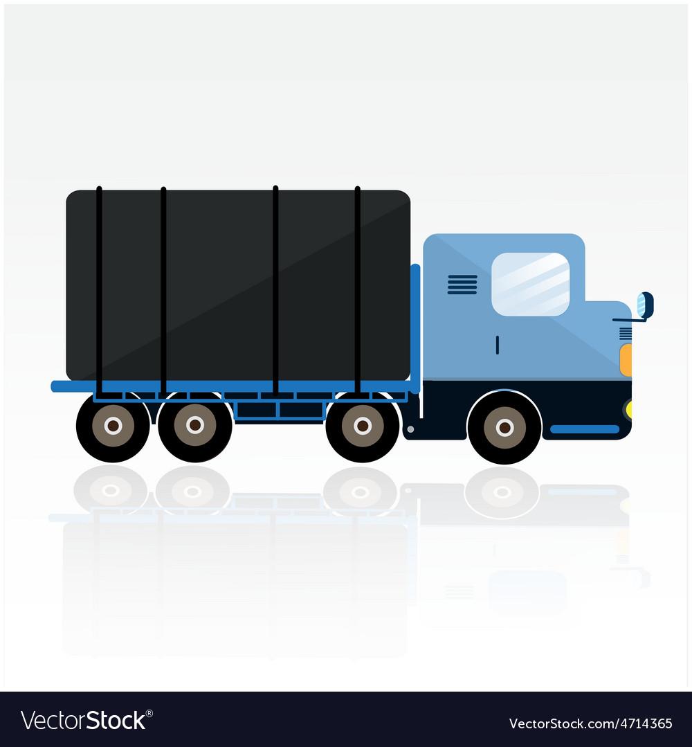 Blue trailer cartoon vector | Price: 1 Credit (USD $1)