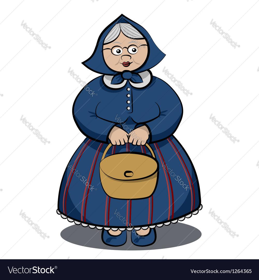 Cartoon character funny granny vector | Price: 3 Credit (USD $3)