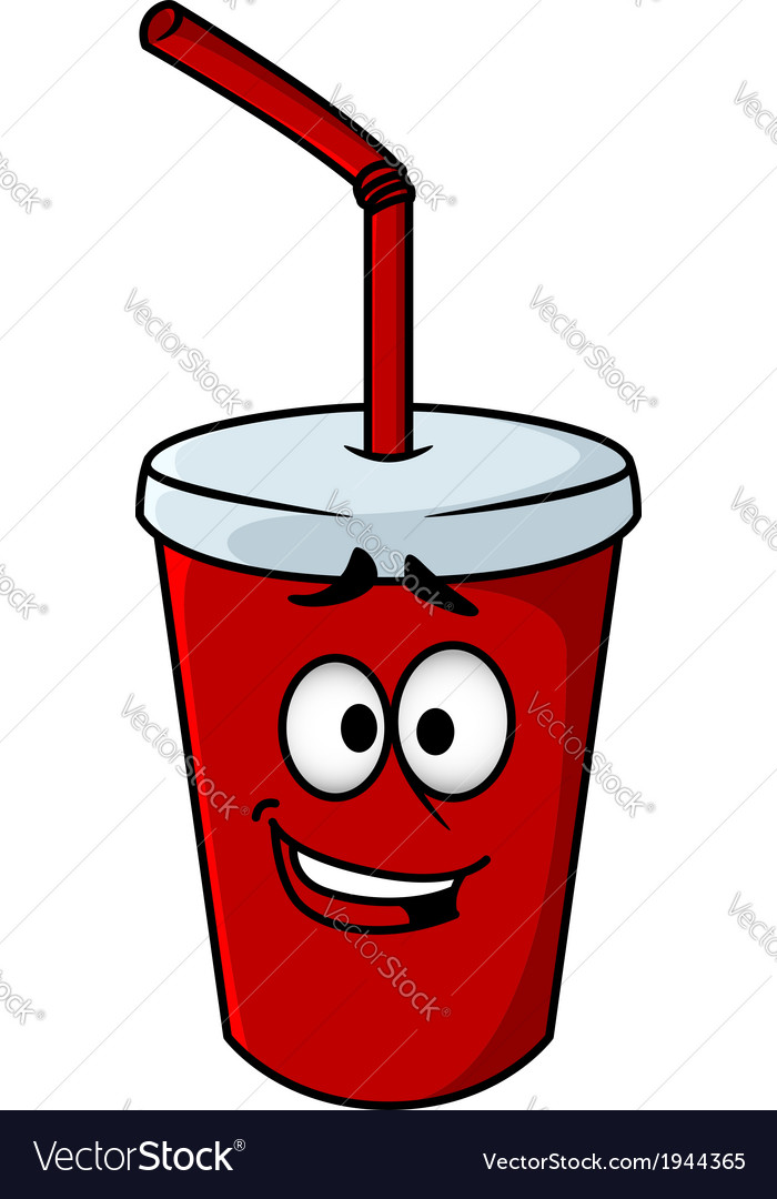 Cartoon takeaway soda vector | Price: 1 Credit (USD $1)