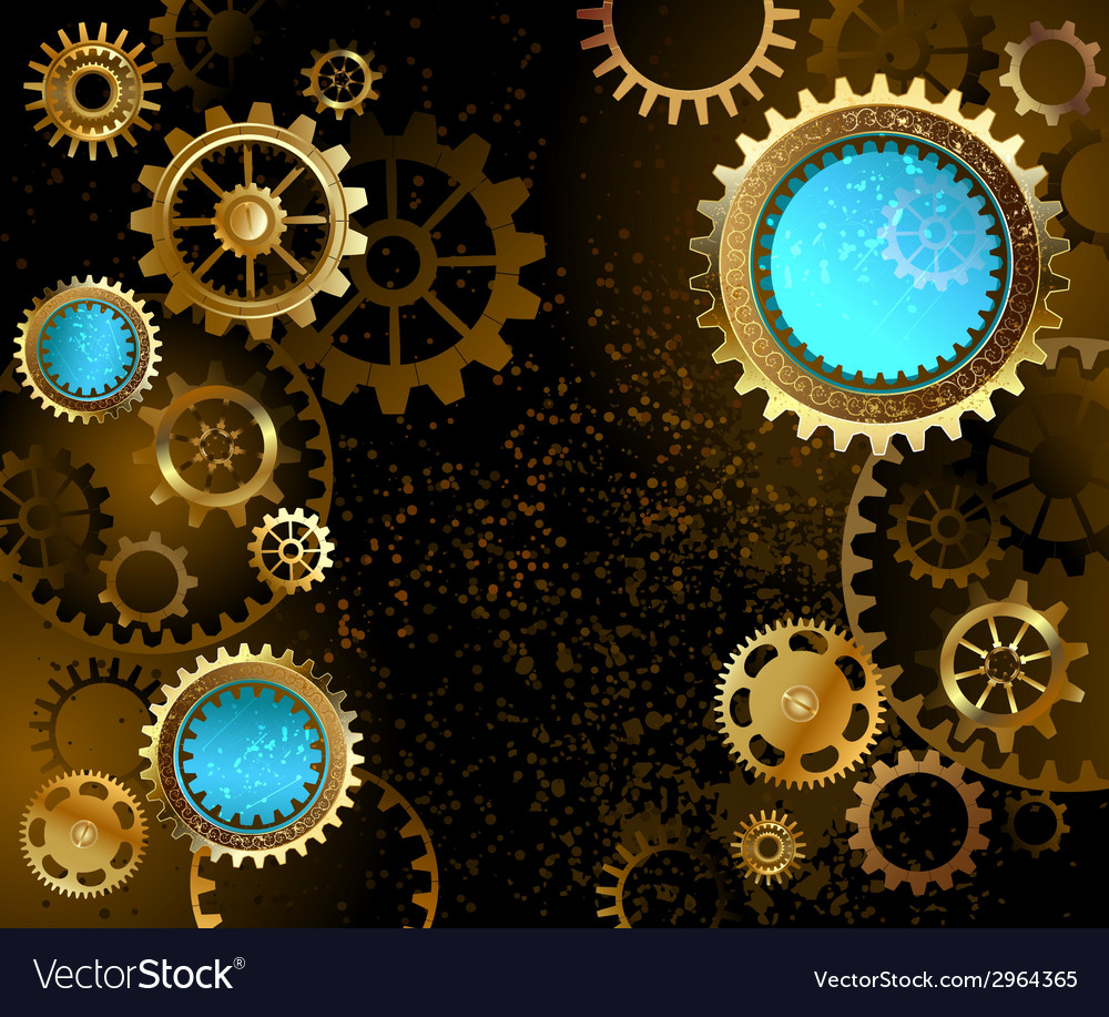 Dark background with gears vector | Price: 1 Credit (USD $1)