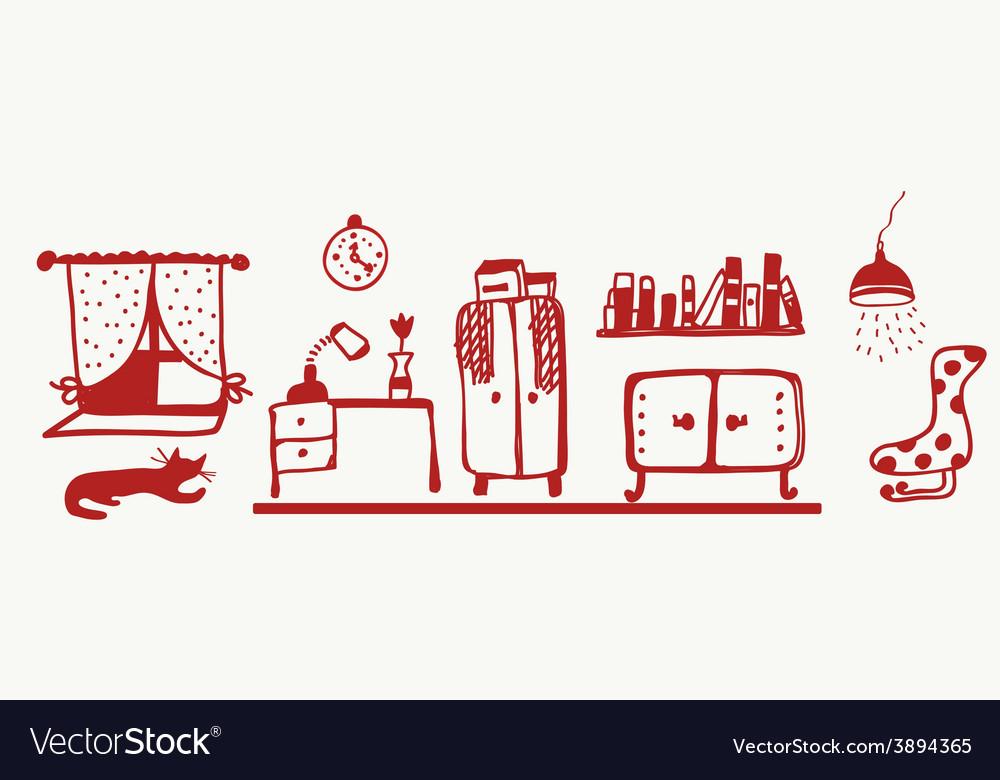 Furniture banner - room interior vector   Price: 1 Credit (USD $1)